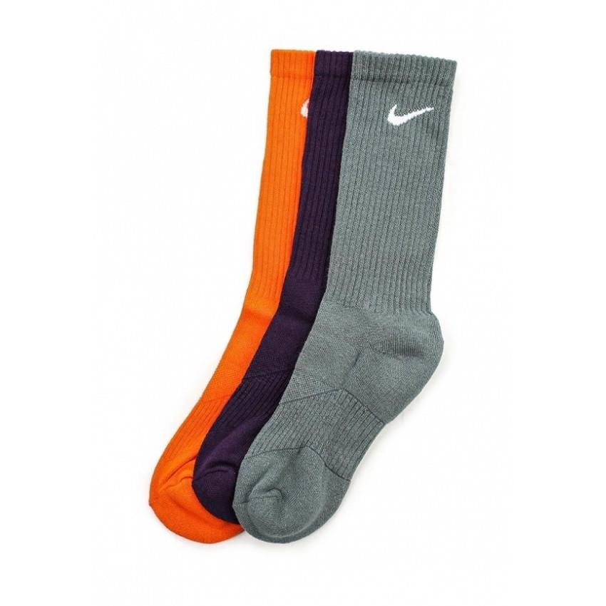 Носки детские Nike Performance Cotton Cushioned Crew Junior 3-pack/orange/plum/grey
