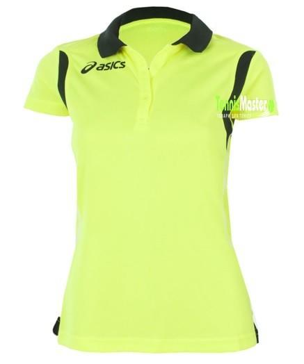 Теннисная футболка женская Asics Samantha volt/black поло