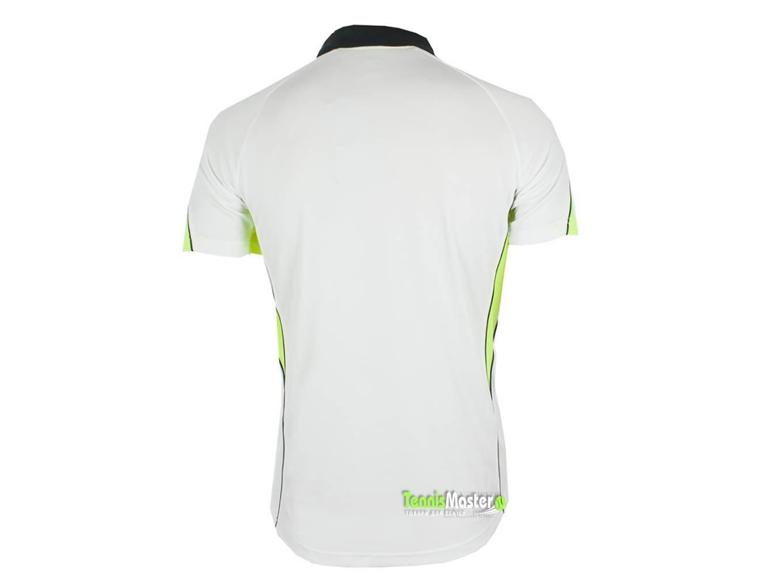 Теннисная футболка детская Asics Junior Vole white/volt поло