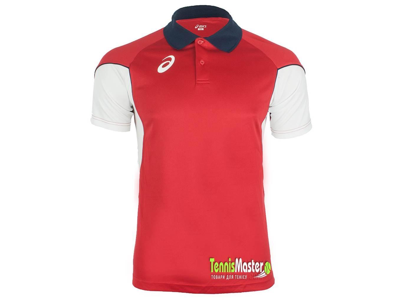 Теннисная футболка детская Asics Junior Vole red/white поло