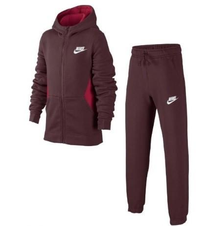 Спортивный костюм детский Nike Boy's NSW Track Suit BF Core bordeaux/bright crimson/white