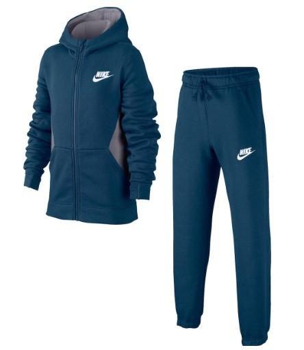 Спортивный костюм детский Nike Boy's NSW Track Suit BF Core blue force/charcoal heather/white