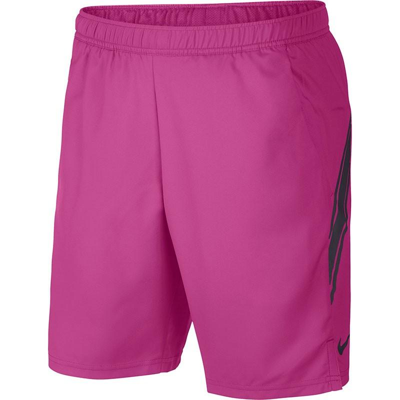 Теннисные шорты мужские Nike Court Dry 9in Short active fuchsia/oil grey