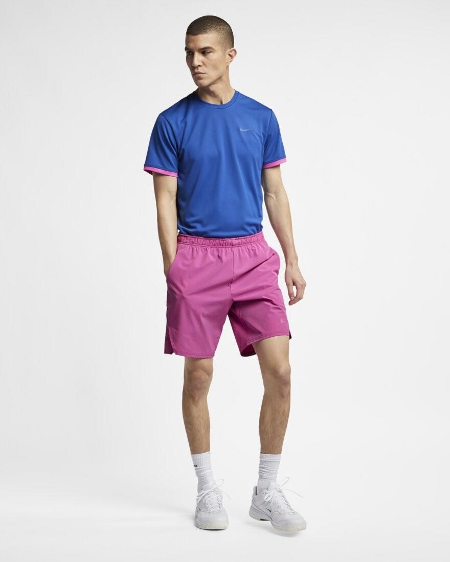 Теннисные шорты мужские Nike Flex Ace 9IN Short active fuchsia