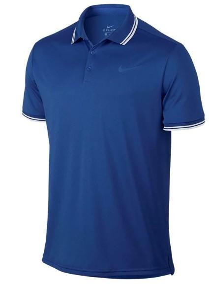 Теннисная футболка мужская Nike Court Dry Polo Solid PQ indigo force поло