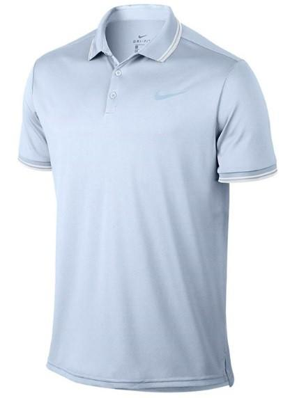 Теннисная футболка мужская Nike Court Dry Polo Solid PQ half blue поло