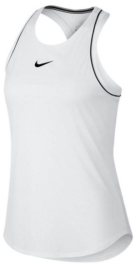Теннисная майка женская Nike Court Dry Tank white/black