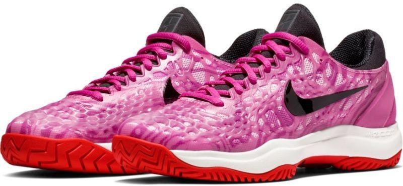 Теннисные кроссовки женские Nike WMNS Air Zoom Cage 3 HC active fuchsia/black