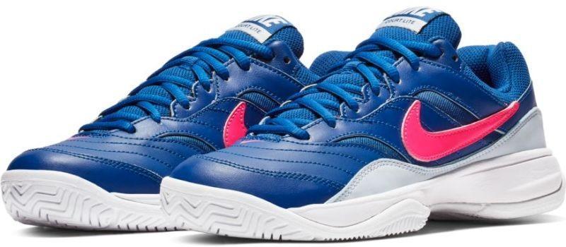 Теннисные кроссовки женские Nike Court Lite indigo force/pink blast