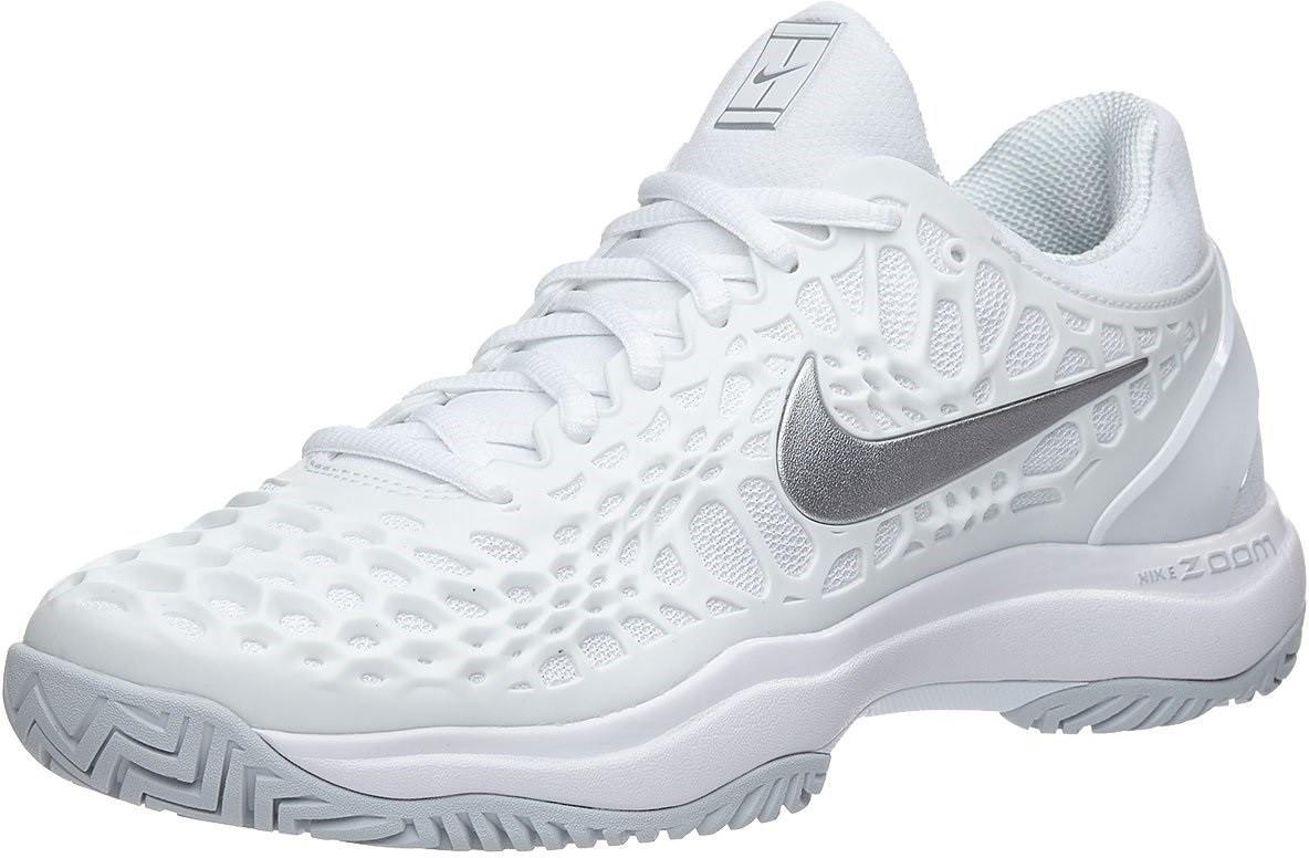 Теннисные кроссовки женские Nike WMNS Air Zoom Cage 3 HC white/metallic silver