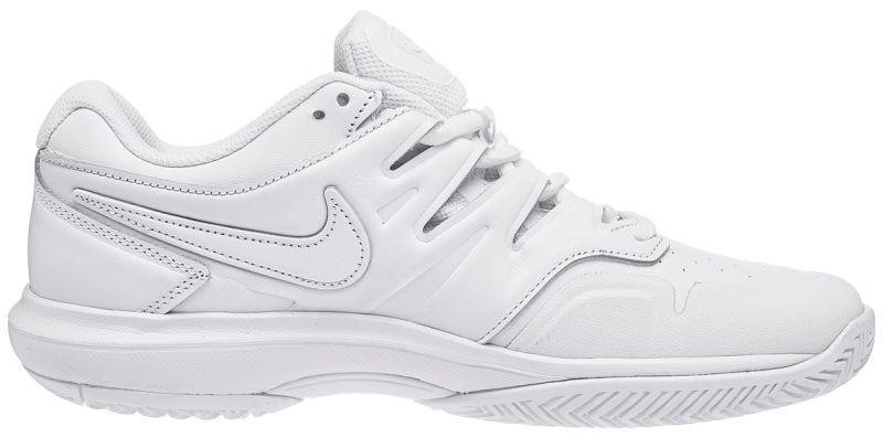 Теннисные кроссовки мужские Nike Air Zoom Prestige HC LTHR white/black