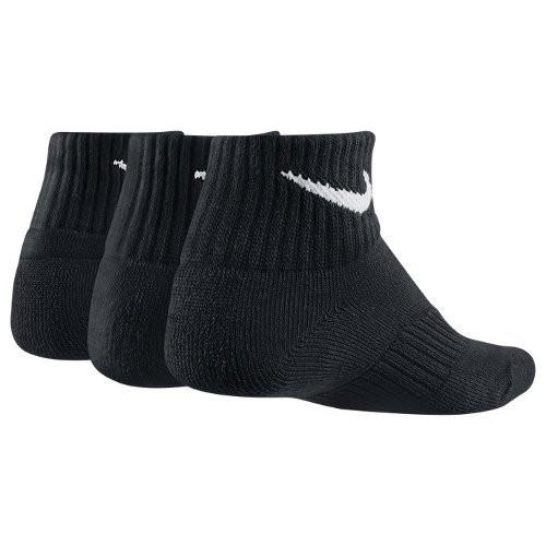 Носки детские Nike Performance Cotton Cushioned Quarter Kids 3-pack/black