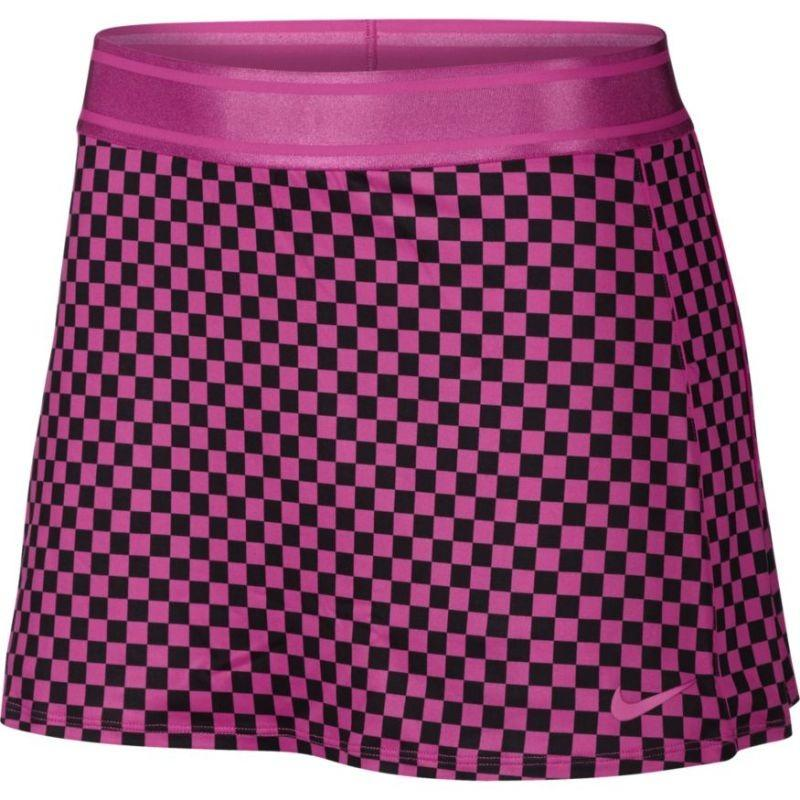 Теннисная юбка женская Nike Court Dry Skirt STR PR active fuchsia/active fuchsia