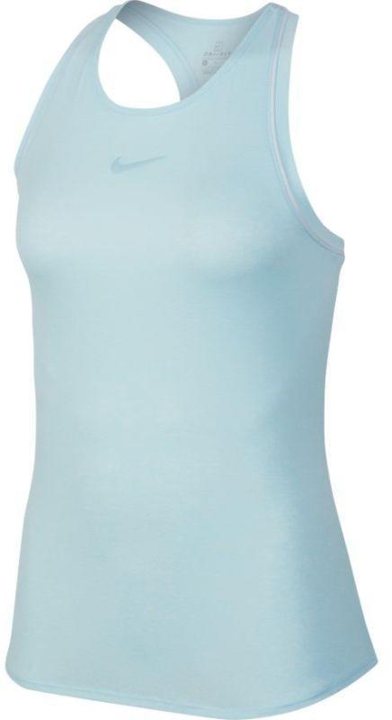 Теннисная майка женская Nike Court Dry Tank topaz mist/white/white/topaz mist