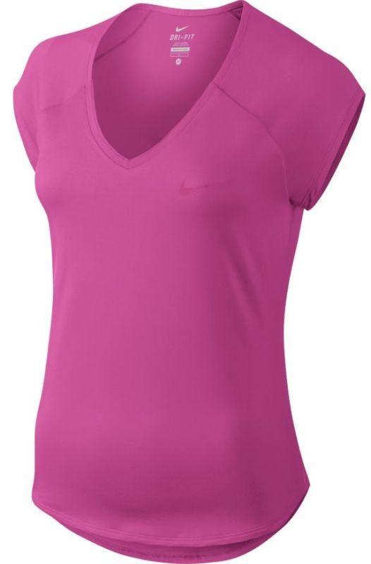 Теннисная футболка женская Nike Court Pure Top active fuchsia/active fuchsia