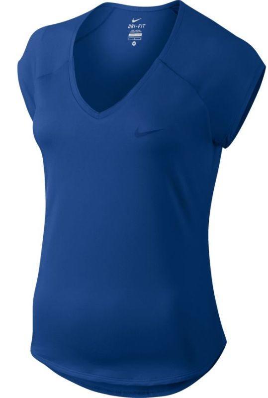 Теннисная футболка женская Nike Court Pure Top indigo force/indigo force