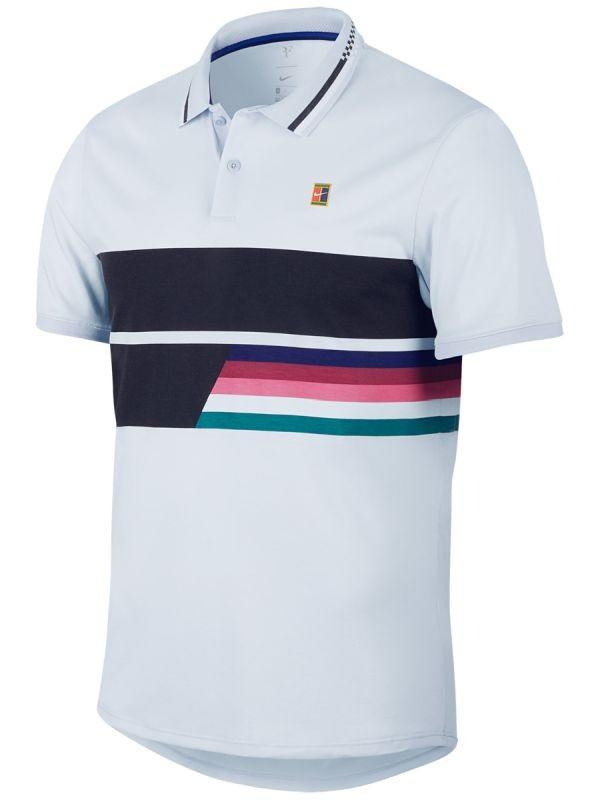 Теннисная футболка мужская Nike Court Advantage Polo Classic half blue/half blue/black