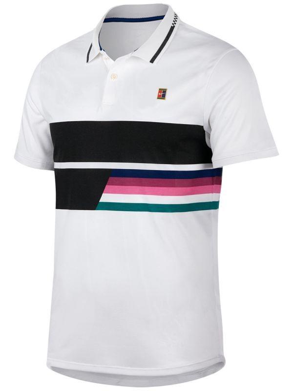 Теннисная футболка мужская Nike Court Advantage Polo Classic white/white/black