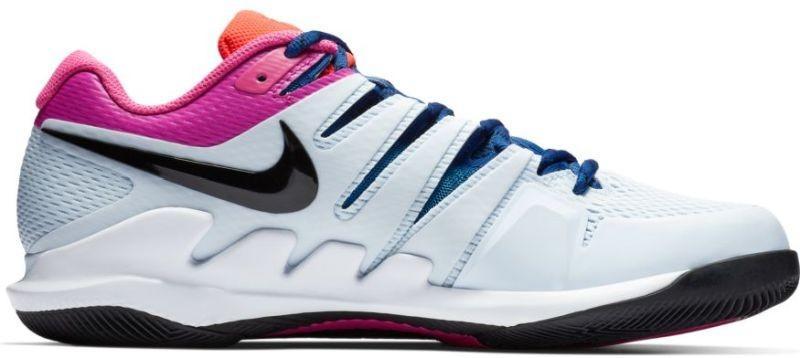 Детские теннисные кроссовки Nike Air Zoom Vapor 10 HC Jr half blue/black/white