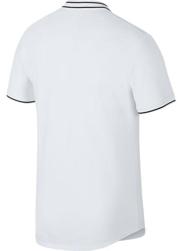 Теннисная футболка мужская Nike Court Advantage Polo white/black