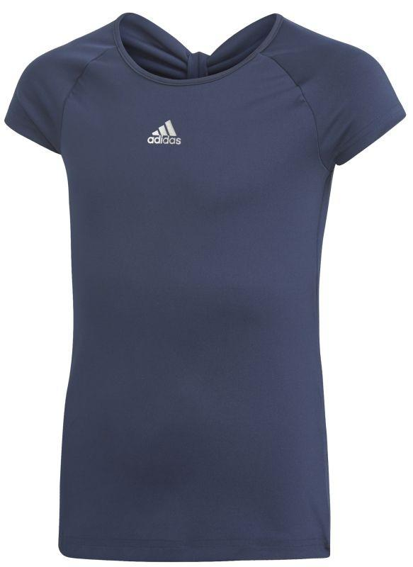 Теннисная футболка детская Adidas G Ribbon Tee collegiate navy