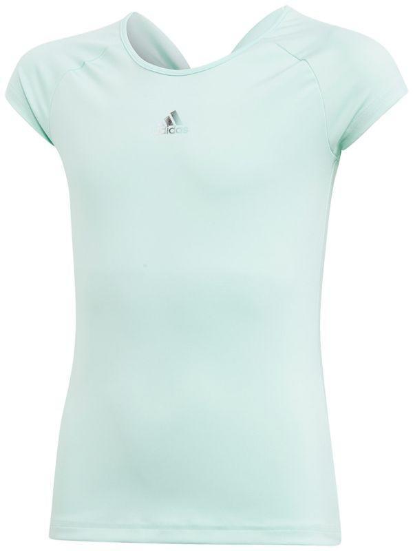 Теннисная футболка детская Adidas G Ribbon Tee clear mint