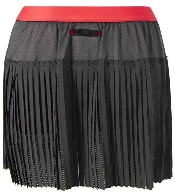 Теннисная юбка женская Adidas Match Code Skirt grey six/shock red