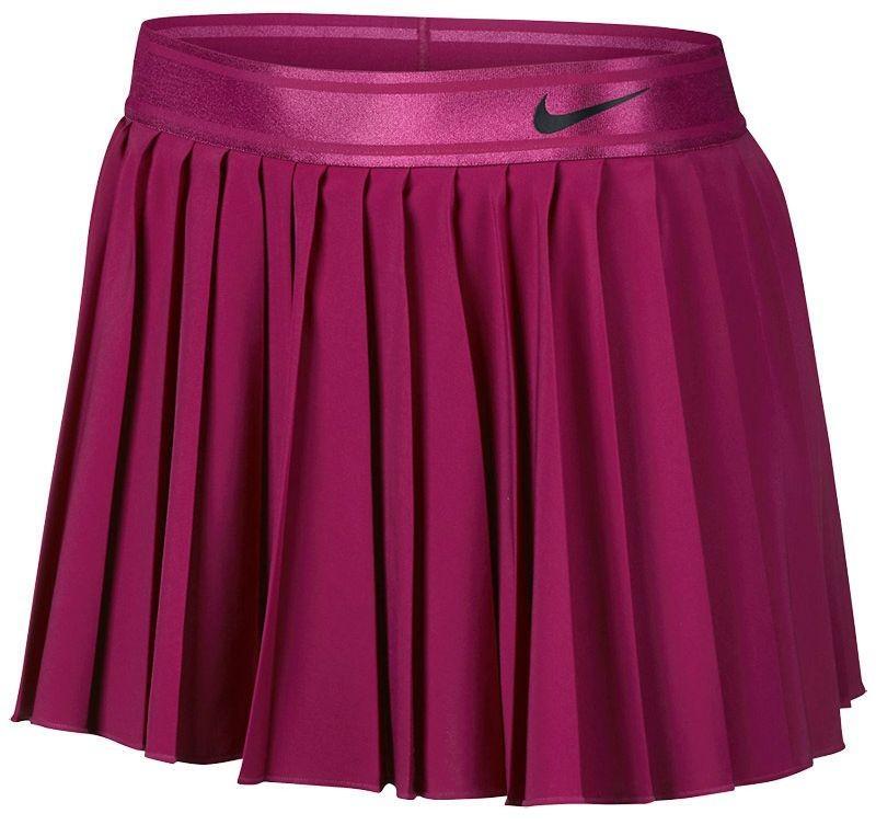 Теннисная юбка женская Nike Court Victory Skirt true berry/black