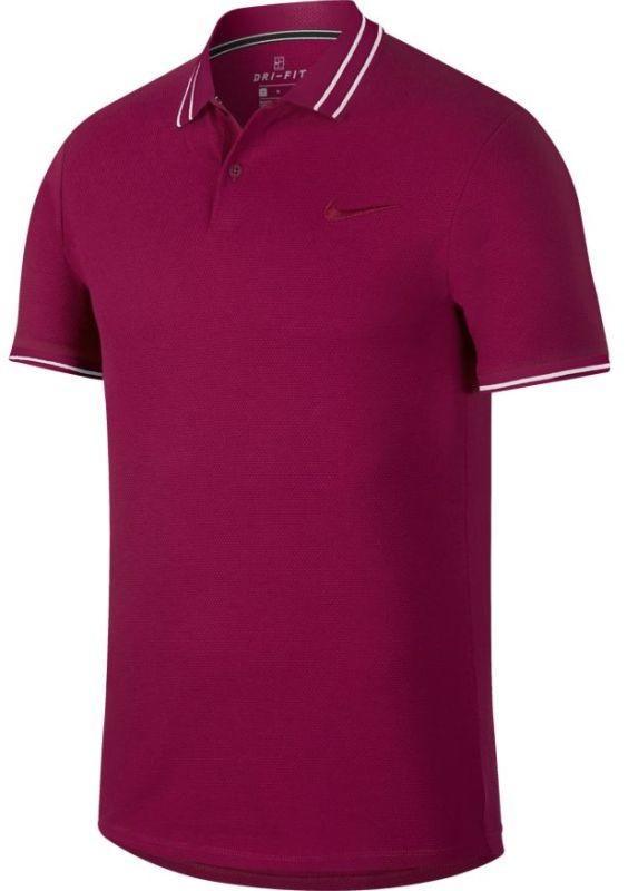 f89087ffc Теннисная футболка мужская Nike Court Advantage Polo true berry/true berry