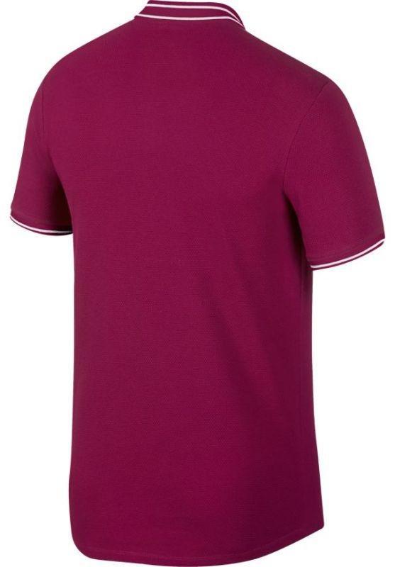 Теннисная футболка мужская Nike Court Advantage Polo true berry/true berry