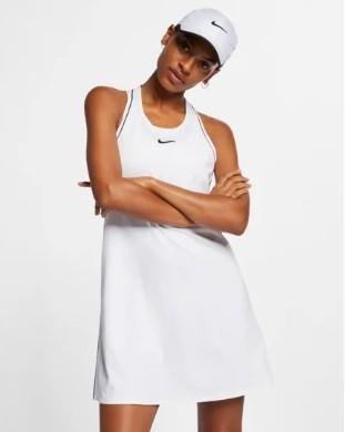 Теннисное платье женское Nike Court Dry Dress white/black/black/black