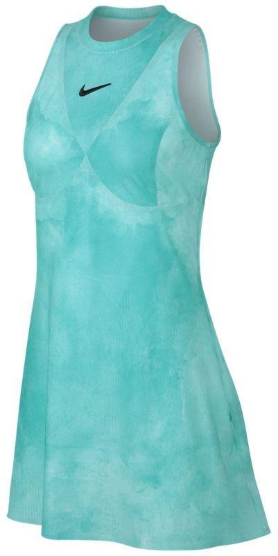 Теннисное платье женское Nike Court Dry Maria Dress tropical twist/oil grey