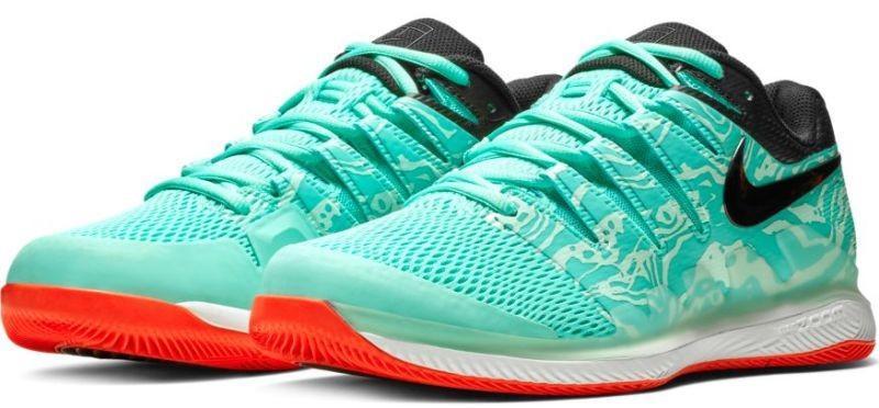Теннисные кроссовки мужские Nike Air Zoom Vapor 10 HC aurora green/black/teal tint