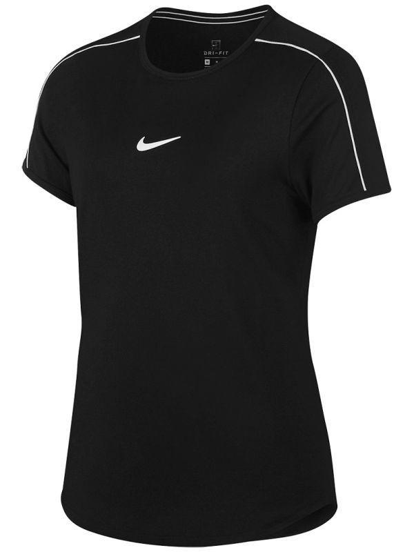 Тенісна футболка дитяча Nike Court G Dry Top black/white/white