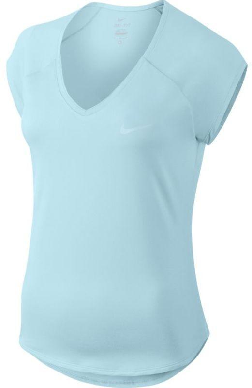 Теннисная футболка женская Nike Court Pure Top topaz mist/topaz mist