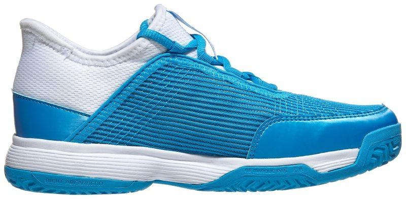 Детские теннисные кроссовки adidas Adizero Club Junior shock cyan/ftwr white/ftwr white
