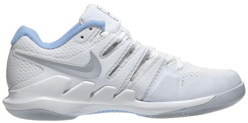 Теннисные кроссовки женские Nike WMNS Air Zoom Vapor 10 HC white/metallic silver/pure platinum