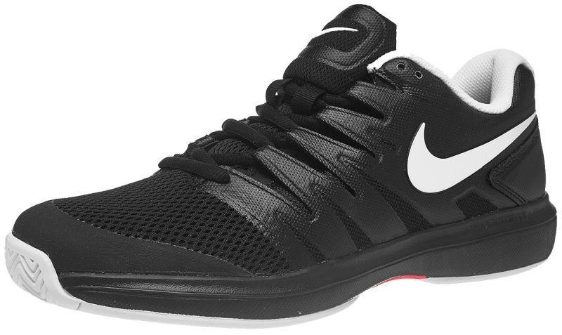 Теннисные кроссовки мужские Nike Air Zoom Prestige HC black/white/bright crimson