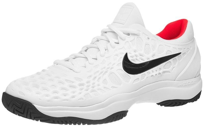 744cb23ad63838 Тенісні кросівки чоловічі Nike Air Zoom Cage 3 HC white/black/bright crimson