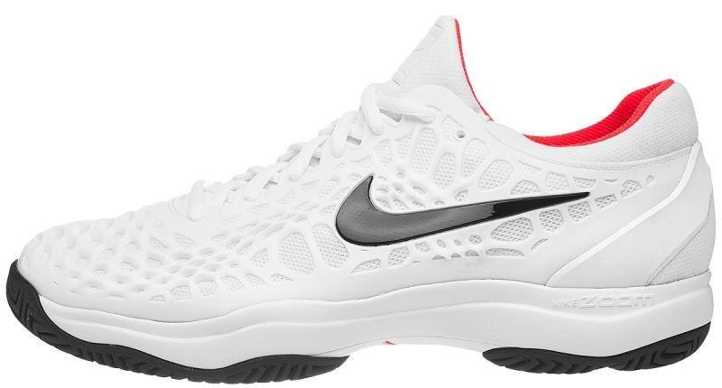 4a99e97a5eb87d ... Тенісні кросівки чоловічі Nike Air Zoom Cage 3 HC white/black/bright  crimson ...