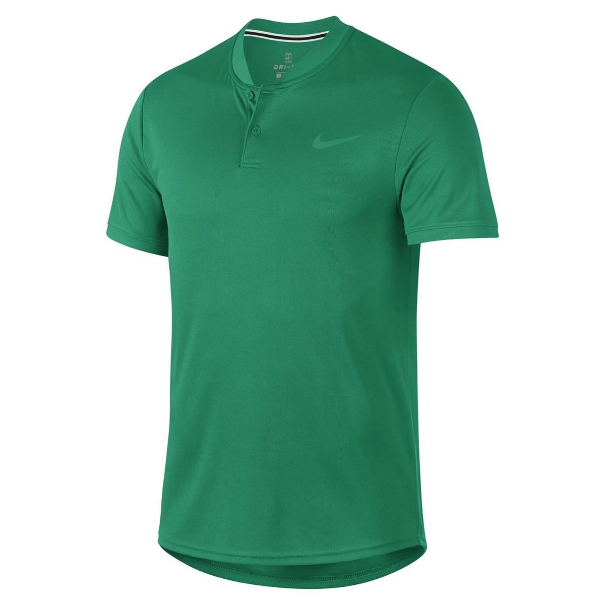 5405526a Теннисная футболка мужская Nike Court Dry Blade Polo canyon gold ...