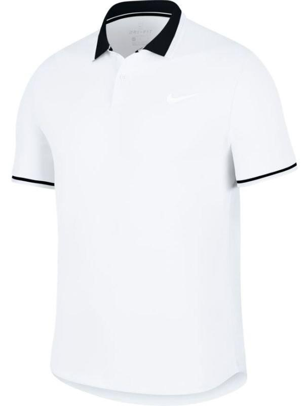 Теннисная футболка мужская Nike Court Advantage Polo Classic white/black/white
