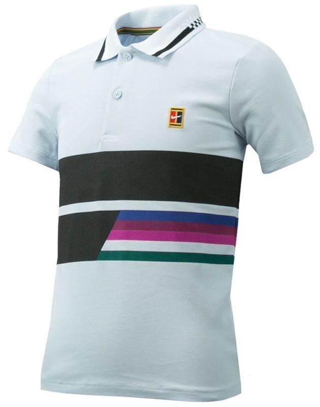 Теннисная футболка детская Nike Court Advantage Tennis Polo half blue поло