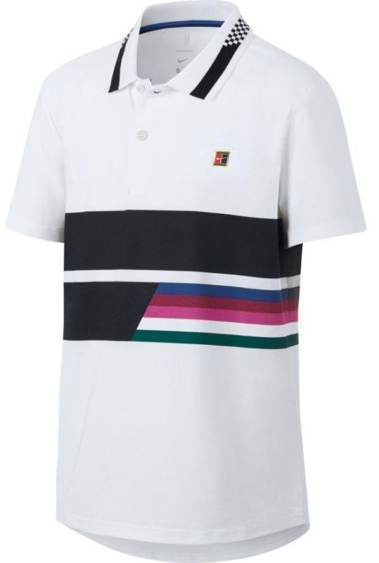 Теннисная футболка детская Nike Court Advantage Tennis Polo white поло