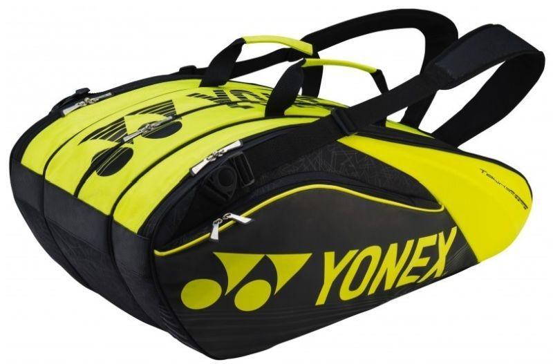 Теннисная сумка Yonex Pro Racquet Bag 9 Pack black/lime
