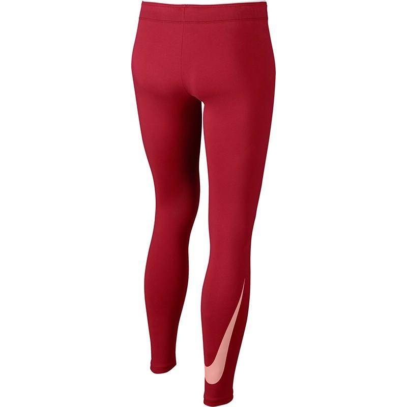 Легинсы детские Nike Swoosh Club Logo Legging tropical pink