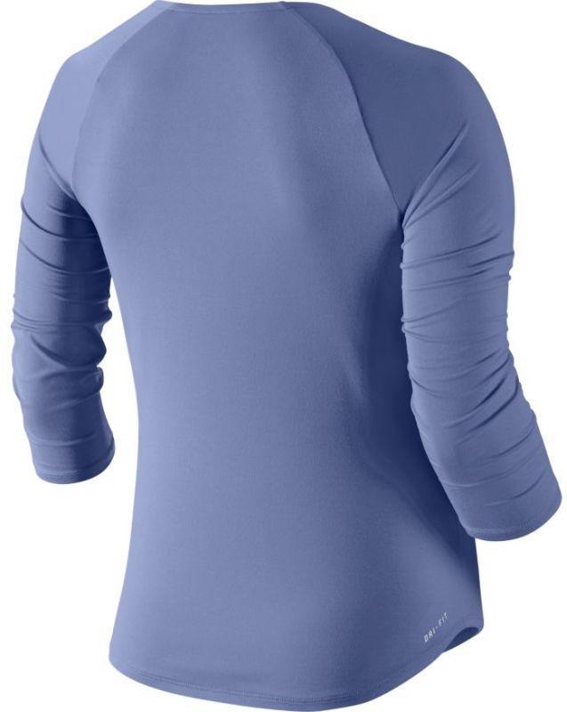 Теннисная футболка женская Nike Court Pure Top 3-4 purple slate/white