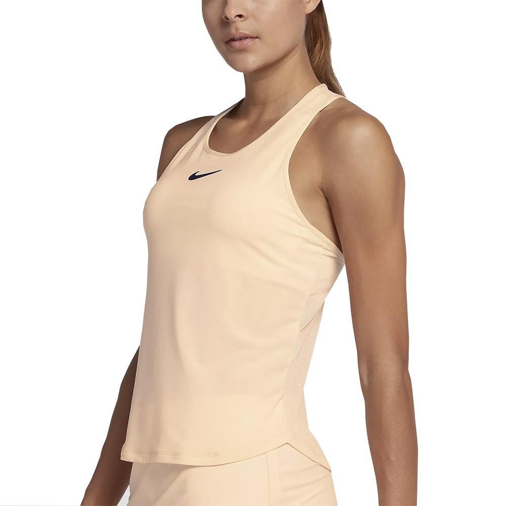 Теннисная майка женская Nike Court Dry Slam Tank light peach