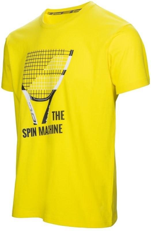 Теннисная футболка детская Babolat Core Pure Drive Tee Boy aero yellow