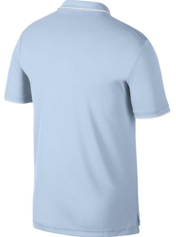 Теннисная футболка мужская Nike Court Dry Team Polo half blue/white/white